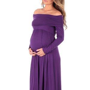 *NWOT*Cowl Neck /Over The Shoulder Maternity Dress